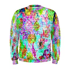 Bright Rainbow Background Men s Sweatshirt by Simbadda
