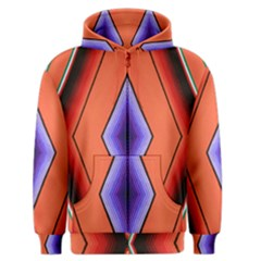 Diamond Shape Lines & Pattern Men s Zipper Hoodie by Simbadda