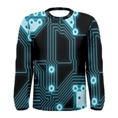 A Completely Seamless Background Design Circuitry Men s Long Sleeve Tee by Amaryn4rt