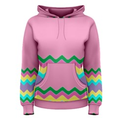 Easter Chevron Pattern Stripes Women s Pullover Hoodie by Amaryn4rt