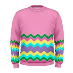Easter Chevron Pattern Stripes Men s Sweatshirt by Amaryn4rt