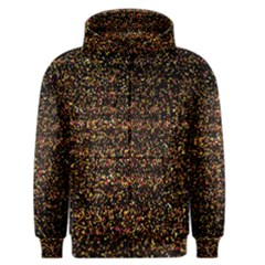 Colorful And Glowing Pixelated Pattern Men s Zipper Hoodie by Amaryn4rt