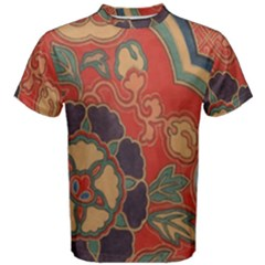 Vintage Chinese Brocade Men s Cotton Tee by Amaryn4rt