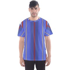 Colorful Stripes Background Men s Sport Mesh Tee