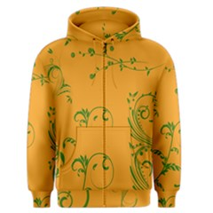 Nature Leaf Green Orange Men s Zipper Hoodie by Alisyart