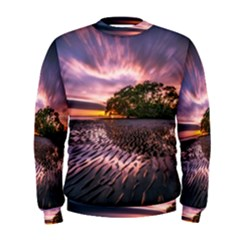 Landscape Reflection Waves Ripples Men s Sweatshirt by Amaryn4rt