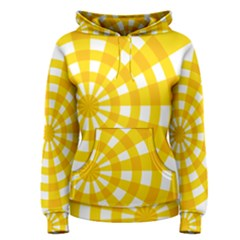 Weaving Hole Yellow Circle Women s Pullover Hoodie by Alisyart