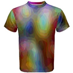 A Mix Of Colors In An Abstract Blend For A Background Men s Cotton Tee by Amaryn4rt
