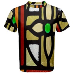 A Detail Of A Stained Glass Window Men s Cotton Tee by Amaryn4rt
