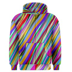Multi Color Tangled Ribbons Background Wallpaper Men s Zipper Hoodie by Amaryn4rt