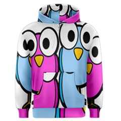 Bird Big Eyes Pink Blue Men s Zipper Hoodie by Alisyart