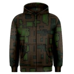 Circuit Board A Completely Seamless Background Design Men s Zipper Hoodie by Simbadda