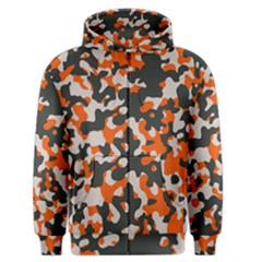 Camouflage Texture Patterns Men s Zipper Hoodie by Simbadda