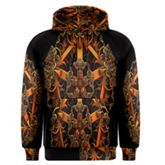 3d Fractal Jewel Gold Images Men s Pullover Hoodie by Simbadda