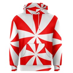 Candy Red White Peppermint Pinwheel Red White Men s Pullover Hoodie by Alisyart