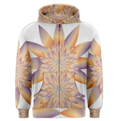 Chromatic Flower Gold Star Floral Men s Zipper Hoodie by Alisyart
