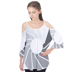 Flower Transparent Shadow Grey Flutter Tees by Alisyart
