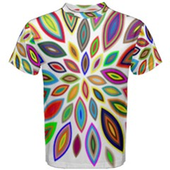 Chromatic Flower Petals Rainbow Men s Cotton Tee by Alisyart