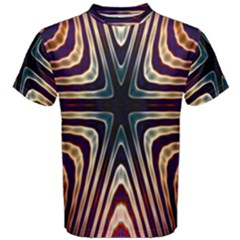 Vibrant Pattern Colorful Seamless Pattern Men s Cotton Tee by Simbadda