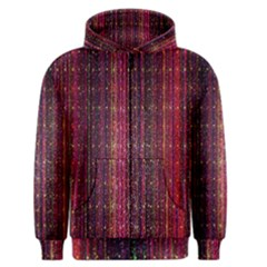 Colorful And Glowing Pixelated Pixel Pattern Men s Zipper Hoodie by Simbadda