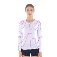 Pipe Template Cigarette Holder Pink Women s Long Sleeve Tee by Alisyart