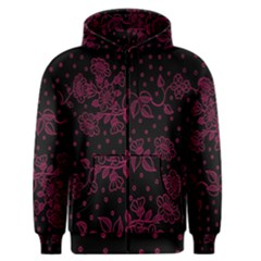 Floral Pattern Background Men s Zipper Hoodie by Simbadda