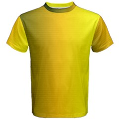 Yellow Gradient Background Men s Cotton Tee by Simbadda