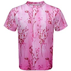 Pink Curtains Background Men s Cotton Tee by Simbadda