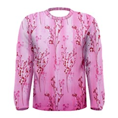 Pink Curtains Background Men s Long Sleeve Tee by Simbadda