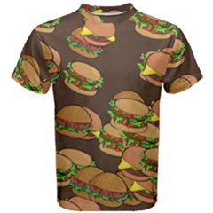 A Fun Cartoon Cheese Burger Tiling Pattern Men s Cotton Tee by Simbadda
