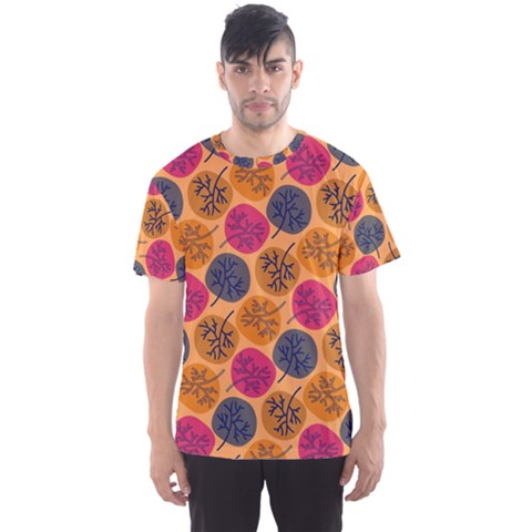 Colorful Trees Background Pattern Men s Sport Mesh Tee by Simbadda