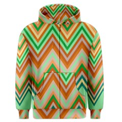 Chevron Wave Color Rainbow Triangle Waves Men s Zipper Hoodie by Alisyart