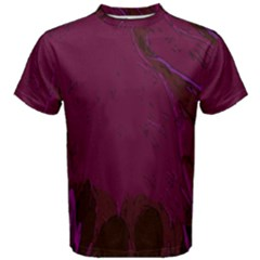 Abstract Purple Pattern Men s Cotton Tee by Simbadda