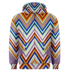 Chevron Wave Color Rainbow Triangle Waves Grey Men s Zipper Hoodie by Alisyart