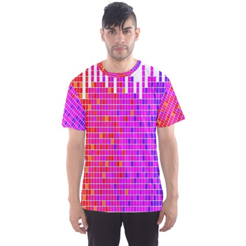 Square Spectrum Abstract Men s Sport Mesh Tee by Simbadda