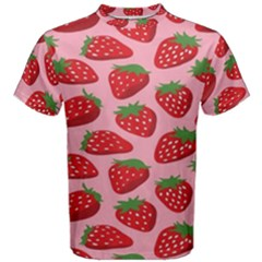Fruit Strawbery Red Sweet Fres Men s Cotton Tee by Alisyart