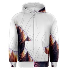 Abstract Lines Men s Zipper Hoodie by Simbadda