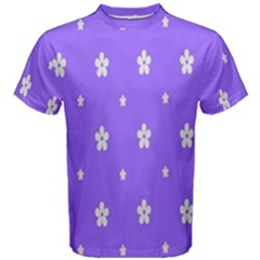 Light Purple Flowers Background Images Men s Cotton Tee
