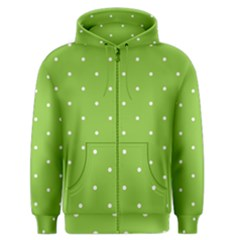 Mages Pinterest Green White Polka Dots Crafting Circle Men s Zipper Hoodie by Alisyart