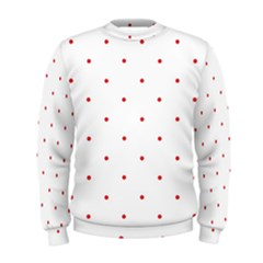 Mages Pinterest White Red Polka Dots Crafting Circle Men s Sweatshirt by Alisyart
