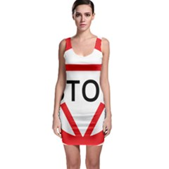 Stop Sign Sleeveless Bodycon Dress