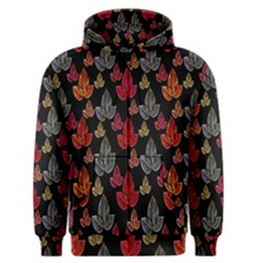 Leaves Pattern Background Men s Zipper Hoodie by Simbadda
