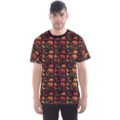 Dark Pattern With African Animals Men s Sport Mesh Tee by CoolDesigns