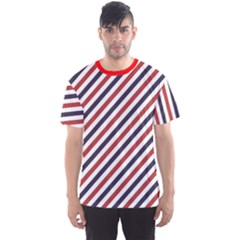 Red Barber Pole Pattern Barber Texture Men s Sport Mesh Tee