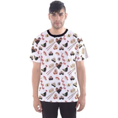 Colorful Pattern With Japanese Food Men s Sport Mesh Tee by CoolDesigns