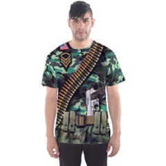 Faux Camouflage Military Men s Sport Mesh Tee