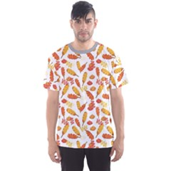 Colorful Corn Dog With Ketchup And Mustard Seamless Men s Sport Mesh Tee