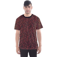 Dark Red Flame Hell Fire Seamless Men s Sport Mesh Tee