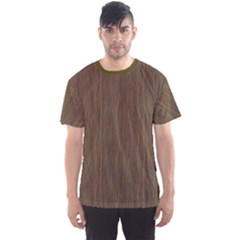 Brown Abstract Flat Wooden Texture Wooden Pattern Men s Sport Mesh Tee by CoolDesigns