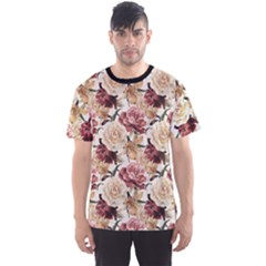 Colorful Floral Pattern Roses Watercolor Men s Sport Mesh Tee
